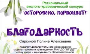 Благодарность Сяркиной П.А..- миниатюра